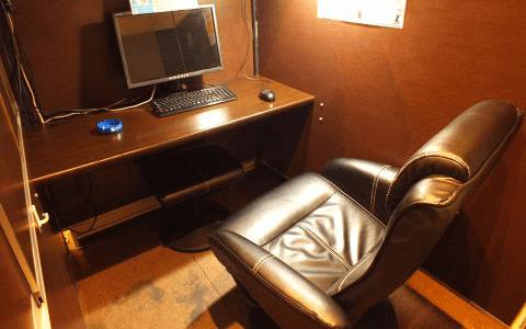 やわらかめの茶色い椅子